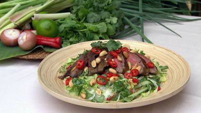 "<a href=""http://kitchen.nine.com.au/2016/05/17/12/50/vietnamese-grilled-beef-and-noodle-salad-with-lemongrass"" target=""_top"">Vietnamese grilled beef and noodle salad with lemongrass<br /> </a>"