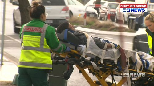 The man was taken to hospital after his arrest. Picture: 9NEWS