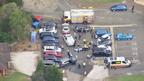 A number of people have been injured after being hit by a car in Quakers Hill.