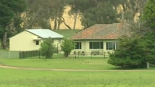 The couple's rural NSW property. (9NEWS)
