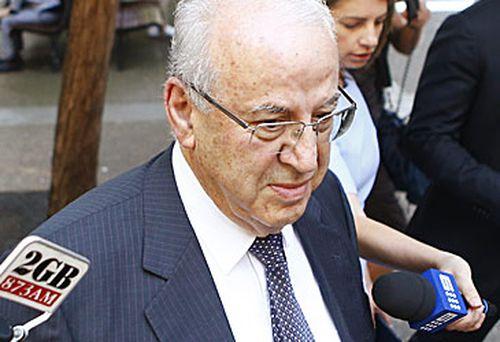Eddie Obeid outside Sydney court (Fairfax/Nine)