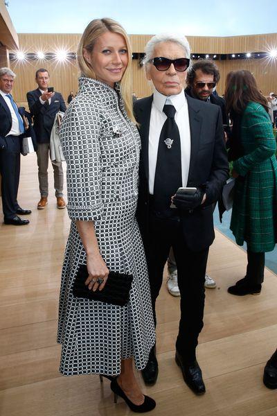 Gwyneth Paltrow and Karl Lagerfeld