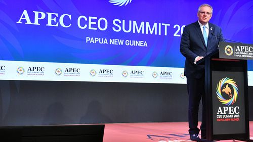 Mr Pence announced the partnership at the APEC summit, but Mr Morrison said Australia will not seek to choose sides between China and the US amid growing tensions.