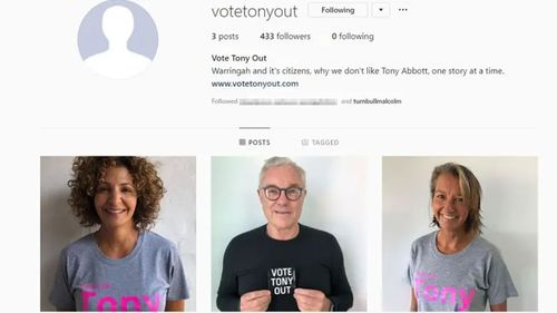 Malcolm Turnbull came under fire for following a page called 'Vote Tony Out'.