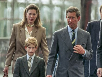 Tiggy and Charles with Harry on street