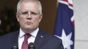 Scott Morrison speaking at a press conference today.