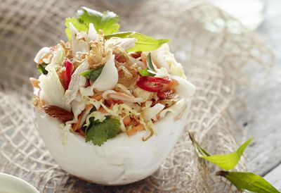 Young coconut chicken salad