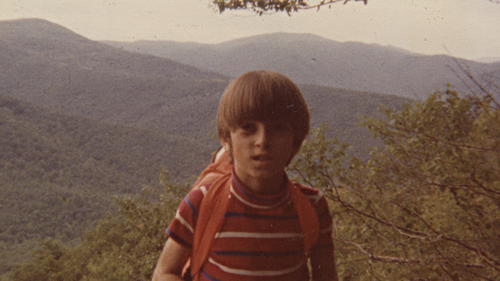 "A young Chris McCandless is pictured on his favourite hike ""Old Rag Mountain"" in the Shenendoah Mountains of Virginia."