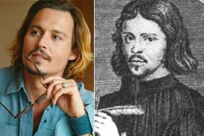 It seems Johnny Depp gets hotter as he ages... Here he is as Thomas Tallis, an English composer and church musician, who lived from 1505 to 1585 (and then waited a few hundred years to come back as the hottest man ever).