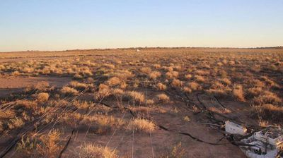 "Marianne McCarthy was one of the workers from Bulloo Downs cattle station, 700km south of Longreach, who came across the remnant of the balloon yesterday. <p></p><p>  ""The cook was down fishing early one morning and she had seen it, and a lot of the neighbours had seen it,"" Ms McCarthy said. </p><p>  (Melissa McCarthy) </p>"
