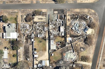 An investigation will begin soon to examine the response to the blaze. Premier Colin Barnett visited the area on Wednesday to announce the review and to meet the residents. (Nearmap)