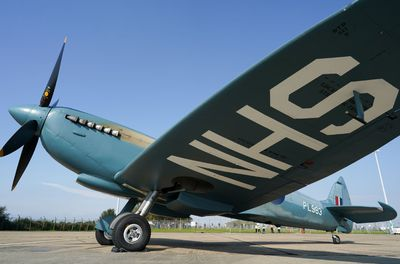 World War II Spitfire plane with NHS tribute
