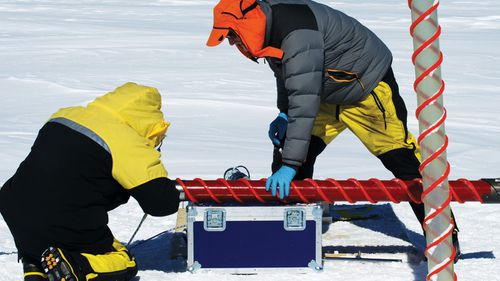The team will drill for several summer seasons through 2800 metres of ice.