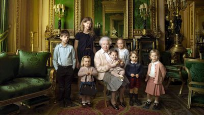 Mia Tindall poses for the Queen's 90th birthday portrait, April 2016
