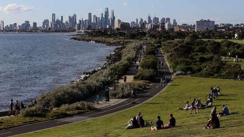 Melbourne from Elwood Beach.