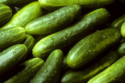 Cucumber (raw): 1.6g sugar per 100g