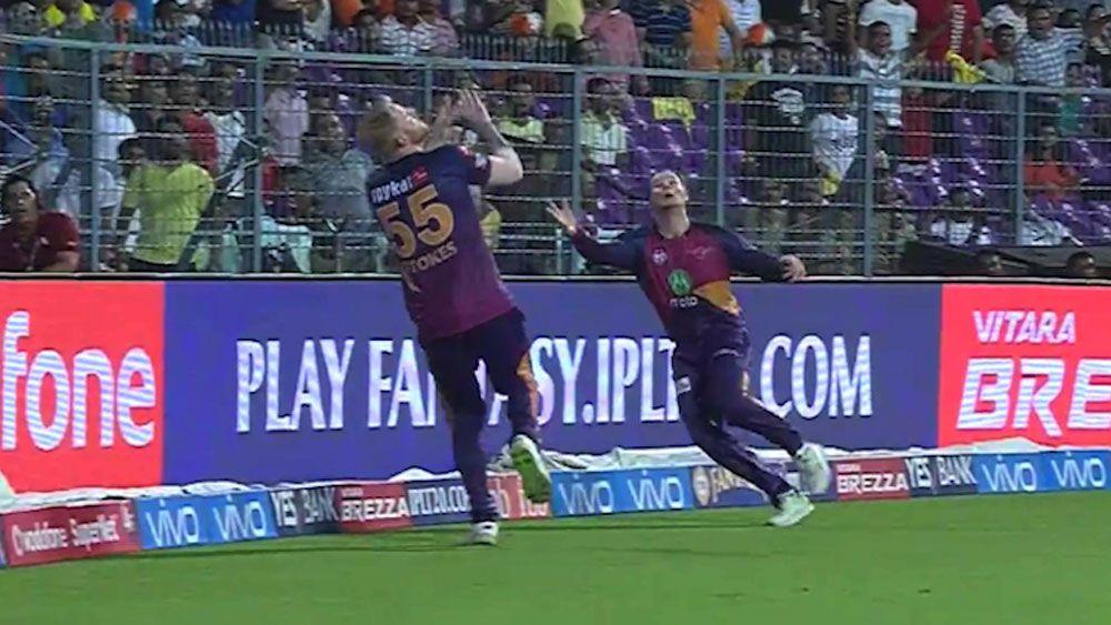 Australian cricket captain Steve Smith suffers nasty collison with Ben Stokes in IPL