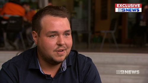 The 24-year-old spoke to 9NEWS about the trauma the incident has caused to his physical and mental wellbeing.