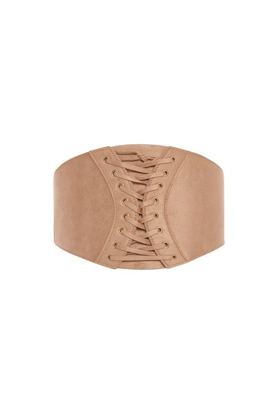 "<p><a href=""https://www.sheike.com.au/corset-belt-032915b-004"" target=""_blank"">Sheike Corset Belt in Camel, $34.95</a></p>"