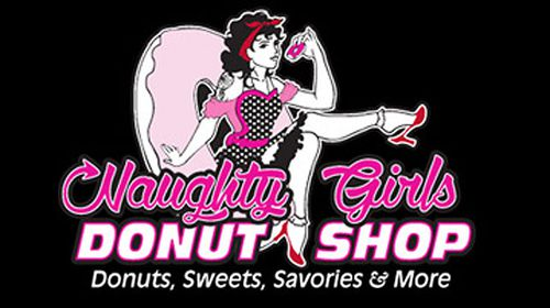 Naughty Girls Donut Shop's logo.