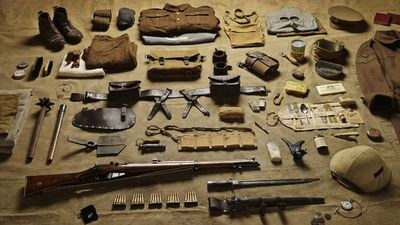 A sergeant at the 1916 Battle of the Somme – WWI's most wretched battle – carried a heavy load of ammunition, equipment and even specialist items to escape the threat of gas attack.