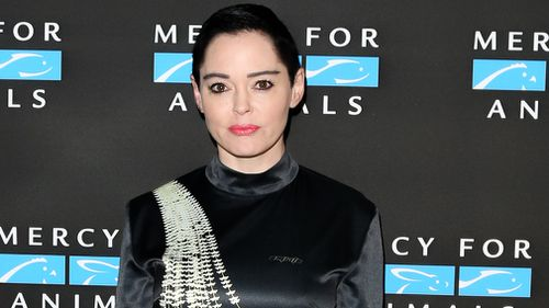Twitter says it suspended Rose McGowan after she shared a photo that included a home phone number. (Getty)