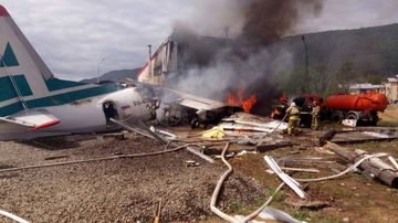 Two crew members were killed in the crash.