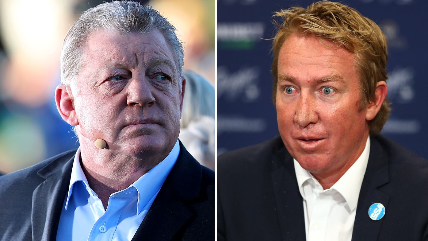 Phil Gould and Sydney Roosters coach Trent Robinson.