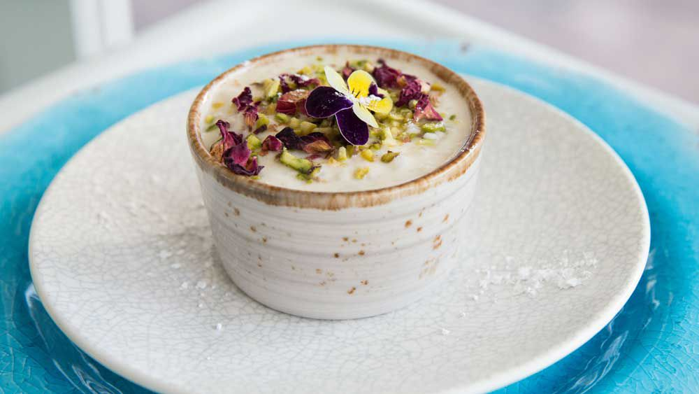 Blue Caboose's rice pudding
