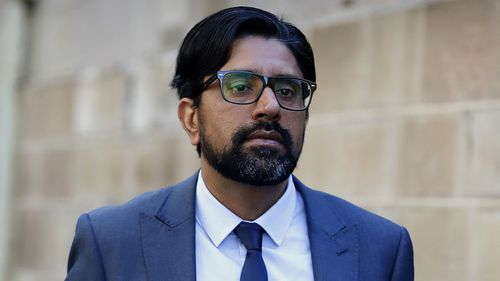 Kulwinder Singh arrives at the Supreme Court in Sydney.