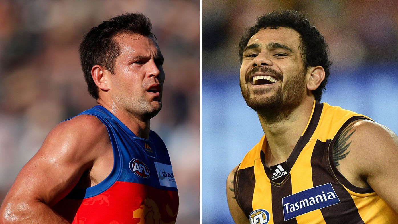 Luke Hodge (left) and Cyril Rioli