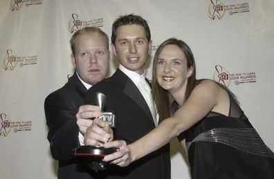 Rove McManus, Peter Helliar and Corinne Grant, Logies