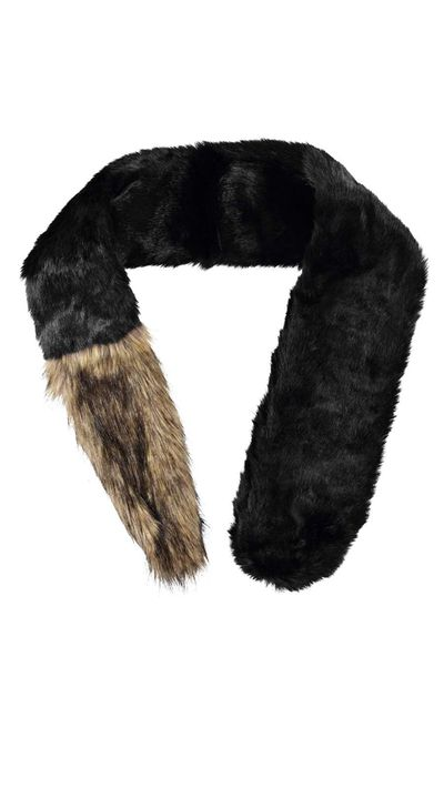 """<a href=""""http://www.boohoo.com/accessories/riley-two-colour-faux-fur-scarf/invt/azz24550"""" target=""""_blank"""">Riley Two Colour Faux Fur Scarf, $8, Boohoo.com</a>"""