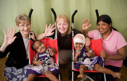 A number of the surgical team that will separate Nima and Dawa successfully separated conjoined twins Trishna and Krishna in 2009.