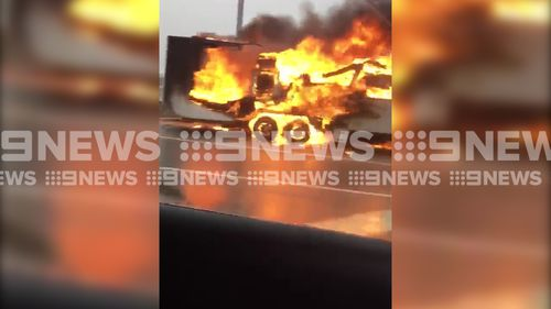 The cause of the fire is not yet known. (9NEWS)