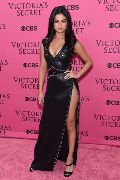 Selena Gomez in Louis Vuitton at the 2015 Victoria's Secret Show