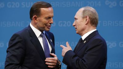 "Responding to Russia's less-than-helpful attitude following the downing of MH17, a frustrated Abbott blurted out he would ""shirtfront"" President Vladimir Putin at an upcoming G20 meeting. The actual definition of shirtfront depends on which football code you follow. In AFL it means to shoulder charge, elsewhere it implies grabbing someone by the front of the shirt aggressively. The world-wide response reeked of ridicule and prompted some entertaining online picture montages of a shirtless, rugged Putin and a budgie-smuggler-wearing Abbott."