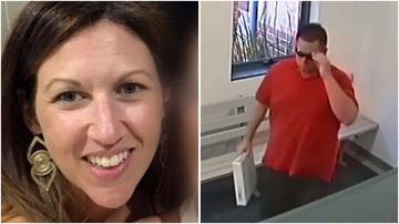 Dramatic security footage has been played to a jury, showing the moments before and after a man allegedly stabbed his ex-fiance to death inside a Perth Courthouse.