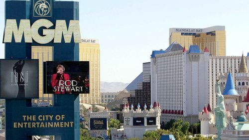 The incident happened during a show at MGM Grand in Las Vegas.