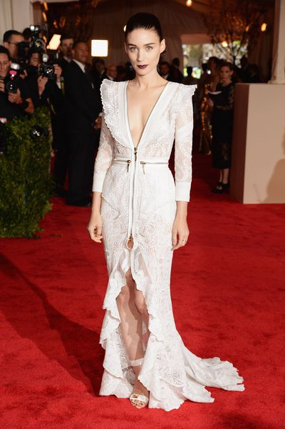 Actress Rooney Mara at the Costume Institute Gala  at the Metropolitan Museum of Art in 2013 in New York.