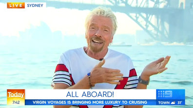 Sir Richard Bransons on Sydney Harbour.