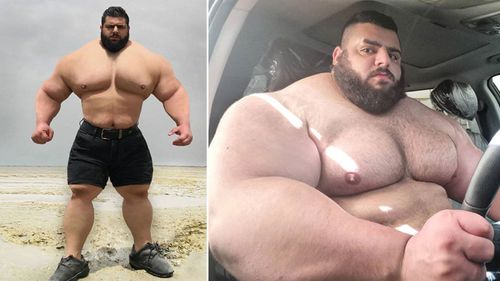 Iranian Sajad Gharibi stands at 1.85 metres tall and weighs in at a colossal 178 kilograms.