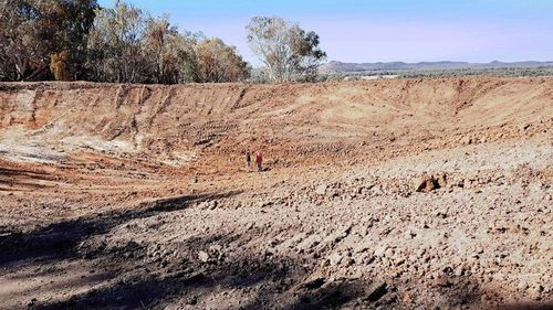 A bone dry dam. (Photo: Jessica Rose Photography)
