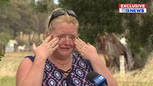Ayla Brownlee broke down in tears recalling her 'beautiful' cousin's life. (9NEWS Exclusive)