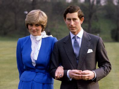 Prince Charles and Princess Diana announcement of engagement, 1981.