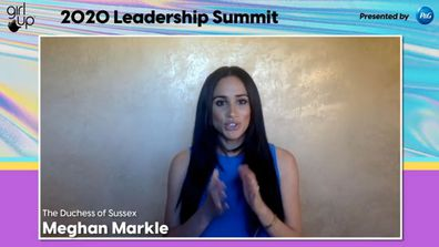Meghan Markle speaking at the Girl Up Leadership Summit 2020