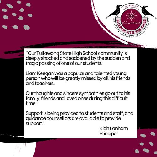 A statement from the Tullawong State High School