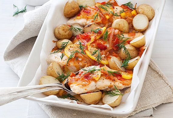 Baked Greek-style fish