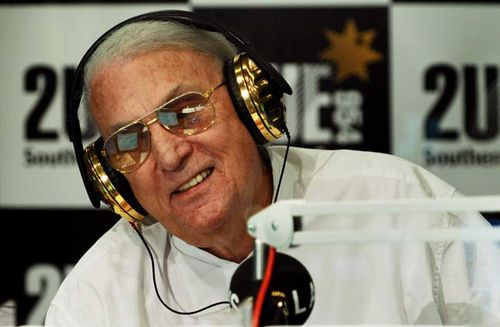 John Laws announcing his retirement in 2007 while at Sydney radio station 2UE. This obviously did not last. (AAP)
