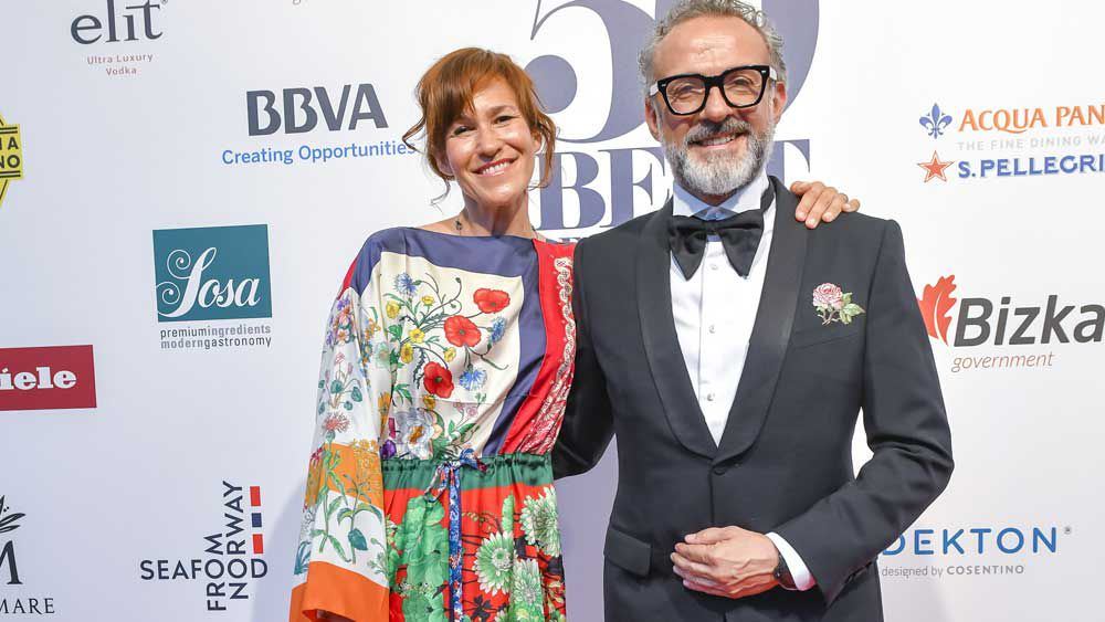 Massimo Bottura and Lara Gilmore - Image Copyright The World's 50 Best Restaurants